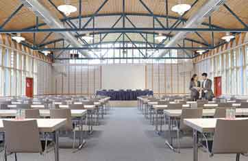 Image with link to Conference Centre page: The large Sigena conference room with capacity for 230 people at the BFW Hotel Nuremberg